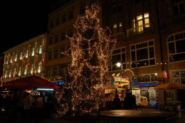 niemieckich jarmarków choinka w Konstancji