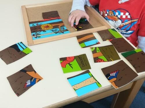 Niemieckie przedszkola - układanie puzzli